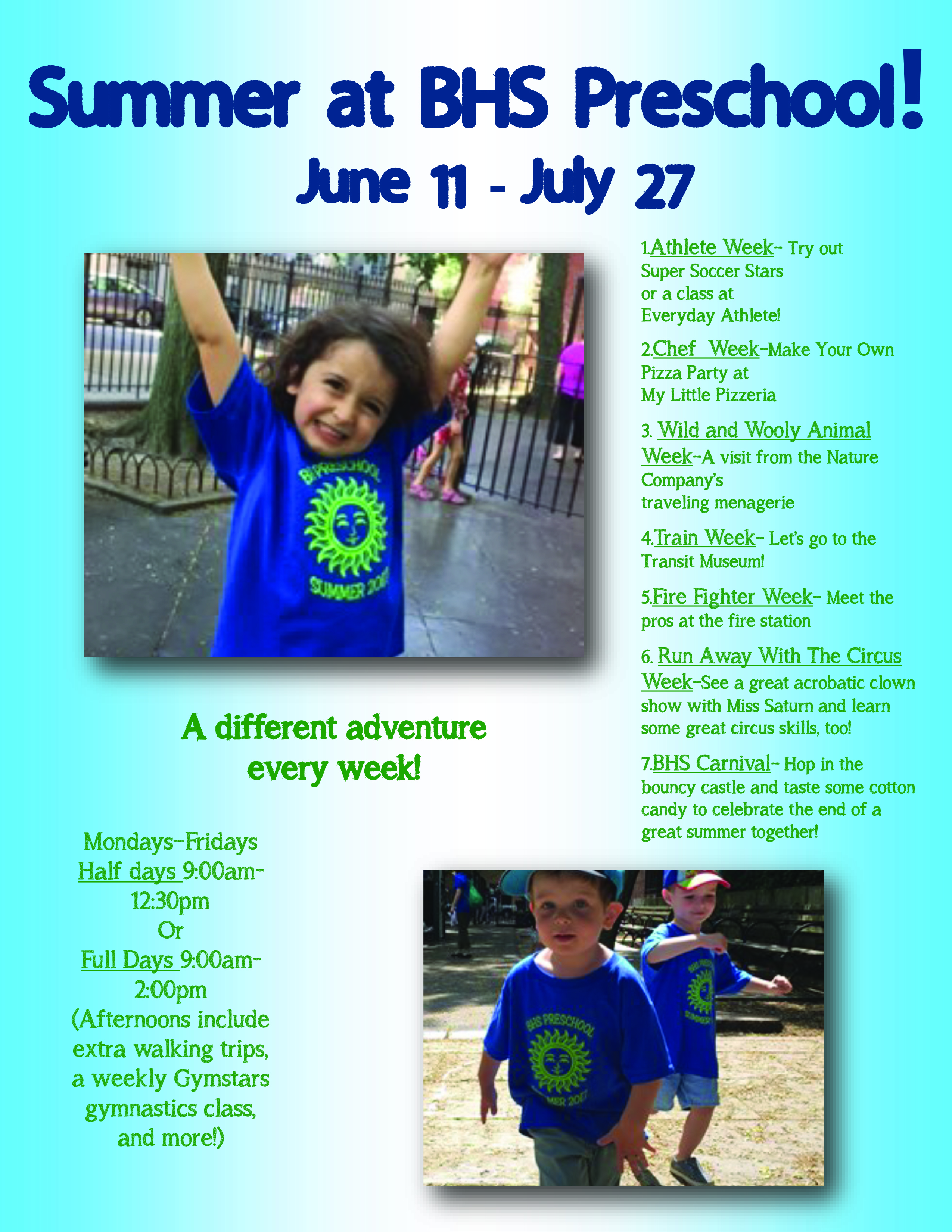 Preschool Summer Program and Summer Twos | BROOKLYN HEIGHTS